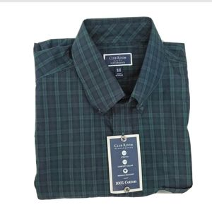 Club Room Slim Fit Plaid Button Down Shirt